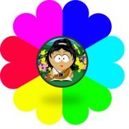 Yedi Renkli Çiçek ve Şeker Kız
